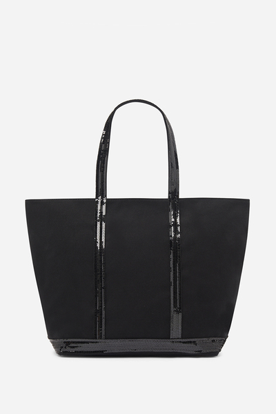 Medium + Canvas And Sequins Cabas Tote Bag With Zip Vanessa Bruno