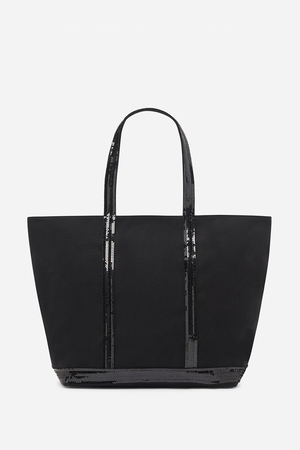 Medium + Canvas And Sequins Cabas Tote Bag With Zip