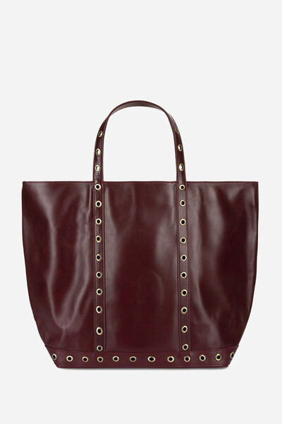 Medium + Leather Cabas Tote Bag with Eyelets Vanessa Bruno