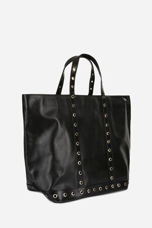 Medium + Leather Cabas Tote Bag with Eyelets