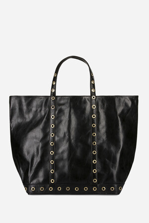 Medium + Wrinkle Leather Cabas Tote Bag with Eyelets