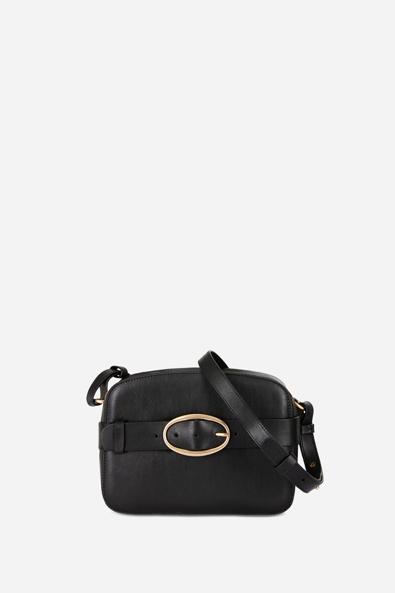 Calfskin Leather Iris Bag Black/CHOCOLATE alt_par_VB