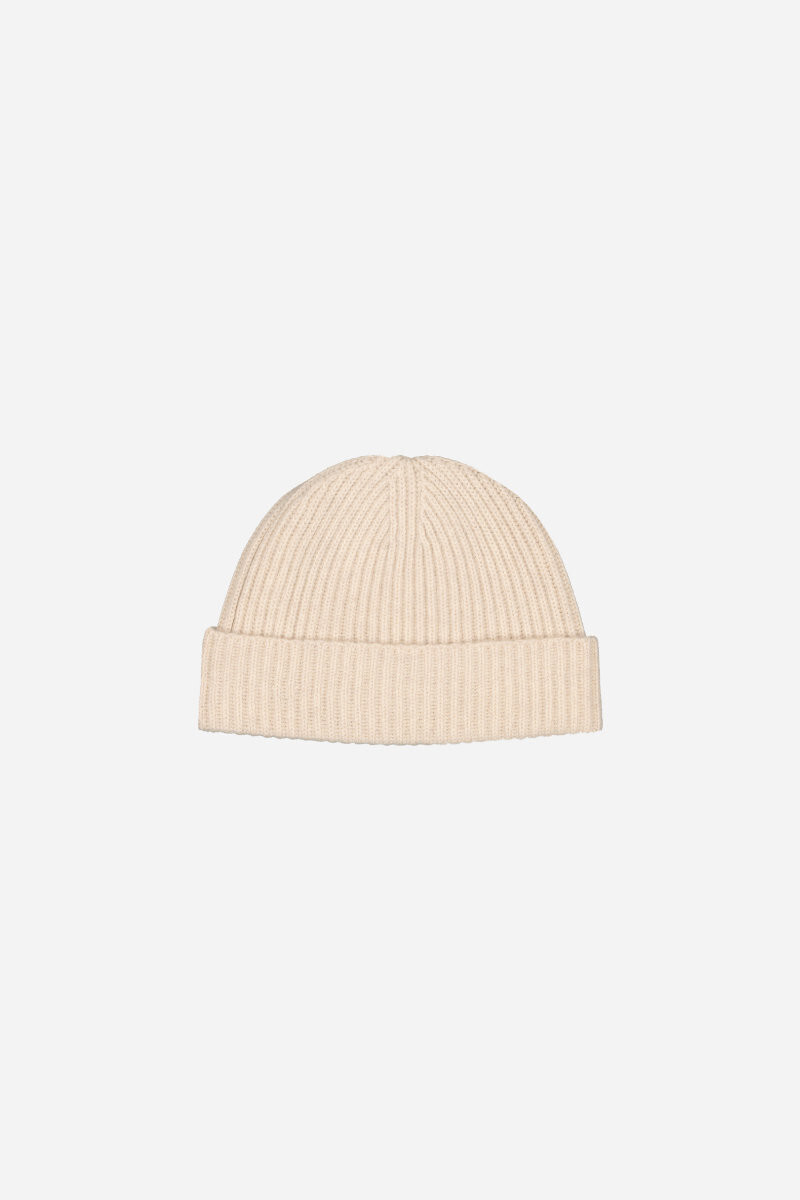 Wool and yack Jordyn beanie Black/TAUPE/ECRU alt_par_VB
