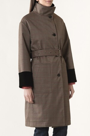 Checked canvas Jarode coat