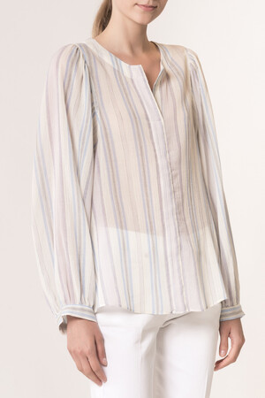 Striped crepon veil Leni Blouse